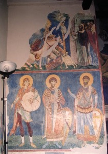 Frescoes from St  Panteleiomon